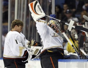 With J.S. Giguere in a slump back-up Hiller must show what hes made of for Ducks