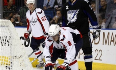 Ovechkin Celebrates His Way to 50 Goal Club; Caps Victory
