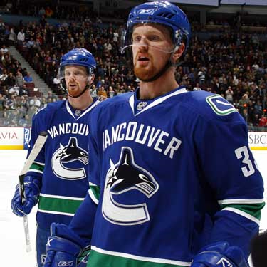 The Sedins were quiet in Game 1 for Vancouver    Courtesy canada.com