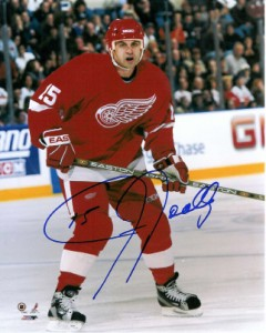 Jason Woolley closed out his NHL career with Detroit.