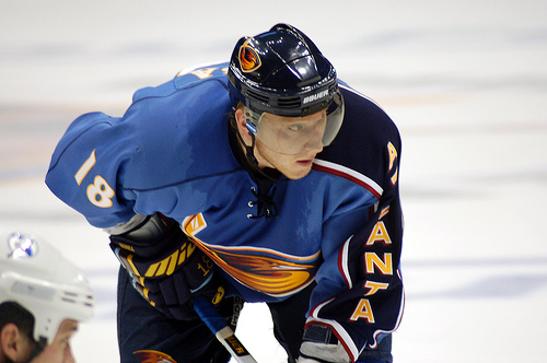Marian Hossa with the Atlanta Thrashers