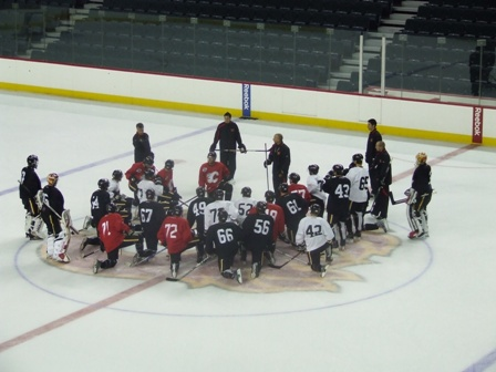 Flames Rookie Camp Is Key to Keep Roster Dreams Alive