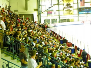 A large crowd was in attendance at day one of Olympic camp (photo courtesy of the author)