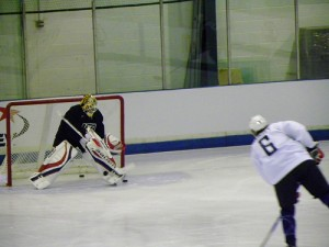 Tim Thomas, prospective US starting goalie (image property of the author)