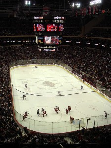 XCel Energy Center: Packed to the Gills as Always (photo from Wikipedia Commons)