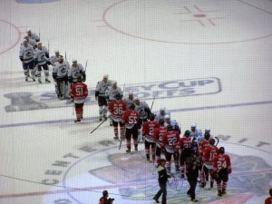 On the victorious side of these lines: where the Hawks want to be (photo property of Pam Rodriguez)