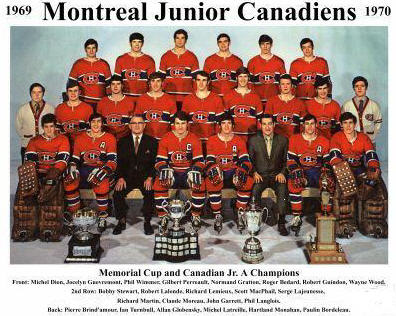 Junior Canadiens with Memorial Cup