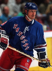 Former-New York Rangers forward Wayne Gretzky