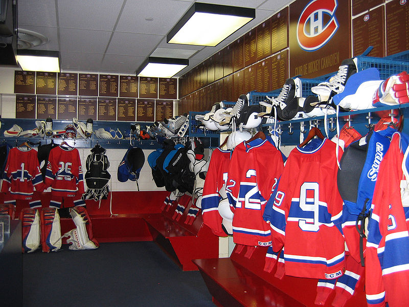 Canadiens dressing room