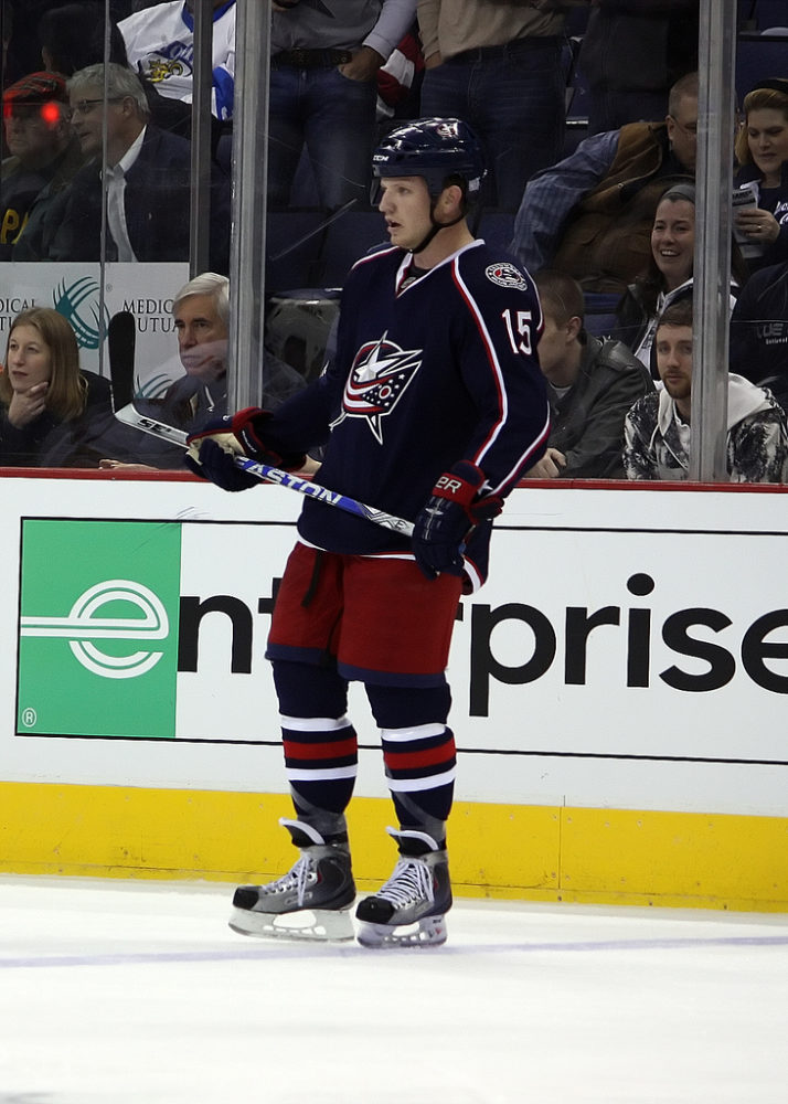 CBJ Right Winger Derek Dorsett (Photo by Dave Gainer/The Hockey Writers)