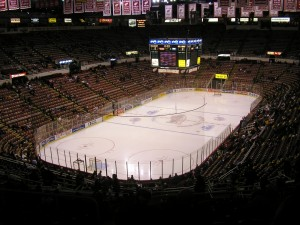 Joe Louis Arena...where game tying goals go to die. (Image via Wikipedia)