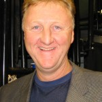 Gretzky's friend, the Legendary Larry Bird, one of the few superstar players to achieving coaching success. (Kurt Shimala: Wikipedia Commons)