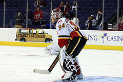Miikka Kiprusoff Back In Vezina Form {Photo by Dave Gainer/The Hockey Writers}