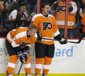Though still the leading offensive producers for the Flyers, both Carter and Richards are at the heart of the team's slumping offense. (Neat1325@/Flickr)