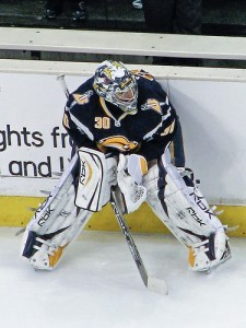 Ryan Miller recorded 40 wins, 2.73 GAA, and .911 save percentage for Buffalo in 2006-07. (image source: mark6mauno/ Flikr)