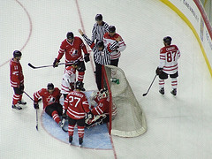 Brodeur - Surrounded By Greatness But NO GOAL! {Photo: Christopher Ralph}