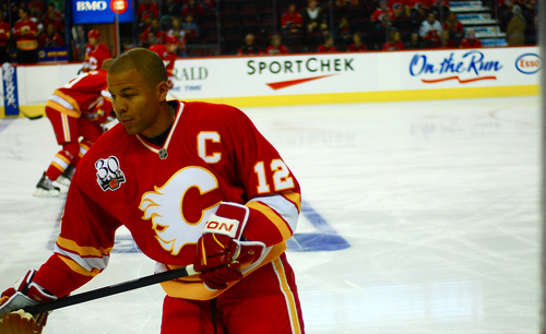 Jarome Iginla taught Mike Cammalleri a lot during their time as teammates. (Rachael Haugan/Flickr).