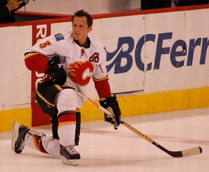 With the Flames, Phaneuf was considered one of the top defensemen in the game. (Charles Sztova/Flickr).