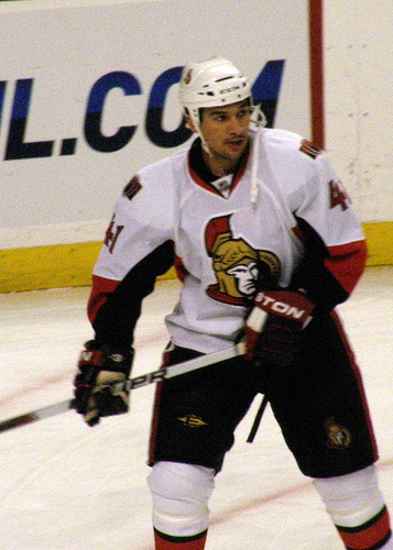 Cheechoo finds himself on Ottawa's fourth line. Photo by Dan4th on Flickr.