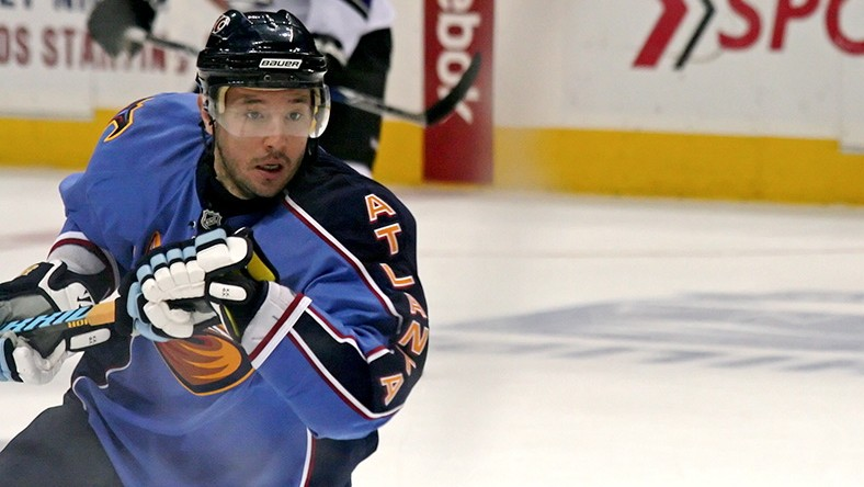 Ilya Kovalchuk during warm-ups at an Atlanta Thrashers game.