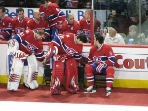 Then-fellow-Montreal Canadiens goalies Carey Price and Jaroslav Halak
