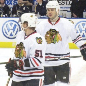 Seabrook should benefit from Campbell's return. Blackhawks Down: Campbell and Seabrook (Pam Rodriguez/THW)