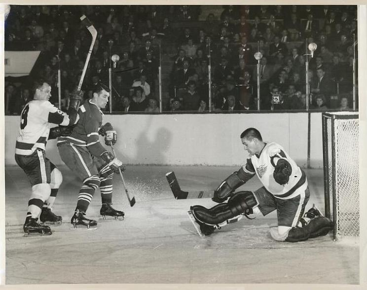 Terry Sawchuk was a phenomenal goaltender but unheralded star Dutch Reibel was a major reason the Wings won the Cup in 1954-1955
