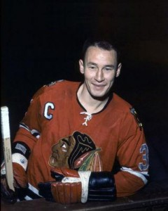 Pierre Pilote scored his first of the season for Chicago.
