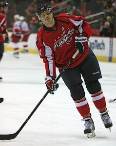 Carlson is currently third on the Capitals in scoring behind Backstrom and Ovechkin.  (photo by capitalpowerplay @ flickr)