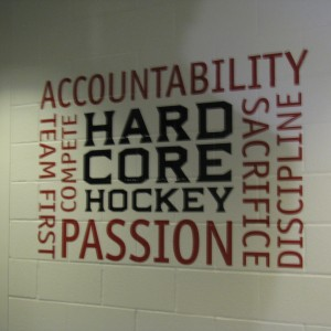Blue Jackets Locker Room Wall -- Hardcore Hockey