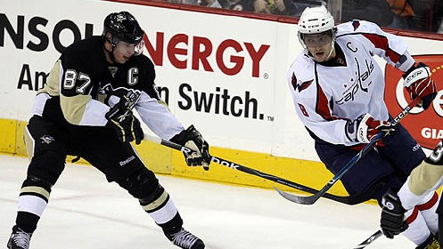 (wstera2/Flickr) Sidney Crosby, left, and Alex Ovechkin will probably go 1st and 2nd overall in most fantasy drafts this fall, but the order could depend on the scoring categories.