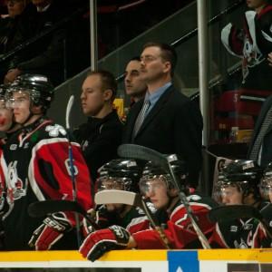 Mike Van Ryn behind the bench
