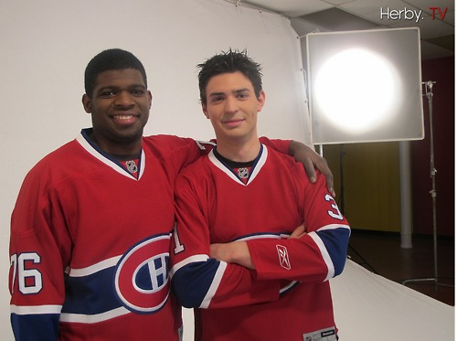 P.K.  Subban and Carey  Price Olympic Team Canada