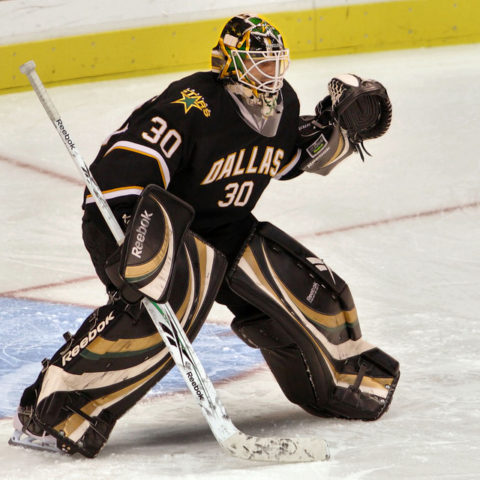 Andrew Raycroft of the Dallas Stars.