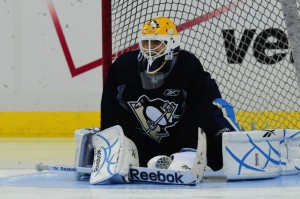 Marc-Andre Fleury Winter Classic Practice