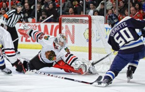 Corey Crawford has answered all the questions about his play so far this season(Icon SMI)