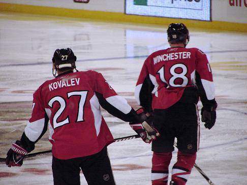 Alex Kovalev, Jesse Winchester, Ottawa Senators