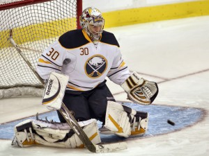Ryan Miller returns to action Thursday against Columbus. (HermanVonPetri)