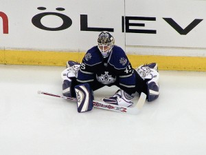 Jonathan Bernier would be a good fit in Edmonton (Photo by Mark Mauno).
