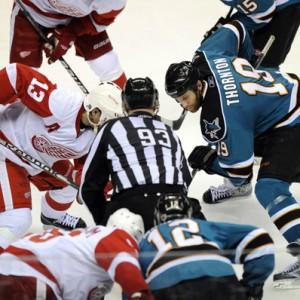 Detroit Red Wings Pavel Datsyuk against San Jose.