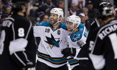 Hockey News: Joe Thornton's Goal Celebration; Flames Hot Start