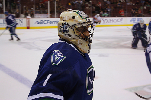 Roberto Luongo and Cory Schneider were teammates for 5 seasons in Vancouver. (carsonballer14/Flickr)