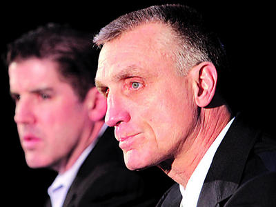 Head Coach Peter Laviolette and General Manager Paul Holmgren