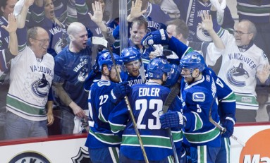 Canucks Stuff Coyotes for Christmas Dinner