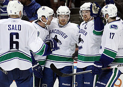 The Canucks' offensive weapons have had little to celebrate in this series, their top-three scorers have produced just two points (Photo by Chassen Ikiri).