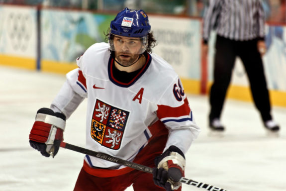 Jaromir Jagr Calgary Flames Czech Republic Olympics 2010 National Hockey Team Kladno