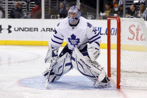 Toronto Maple Leafs goalie James Reimer.