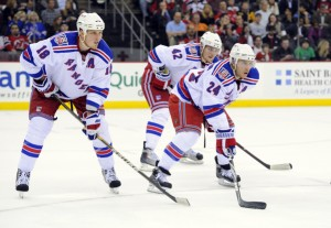 Marc Staal (18), New York Rangers center Artem Anisimov