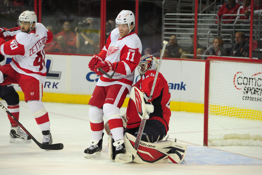 Dan Cleary of the Detroit Red Wings