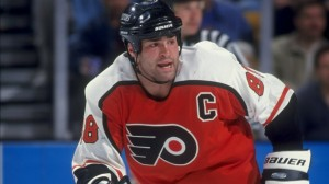 Eric Lindros was one of the best power forwards in the game in the 90's (Credit: Steve Babineau/Allsport)